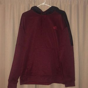 Two tone red adidas hoodie